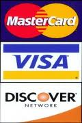 We now accept major credit cards